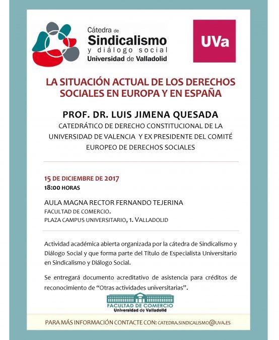 Conferencia: La situación actual de  los derechos sociales en Europa y en España