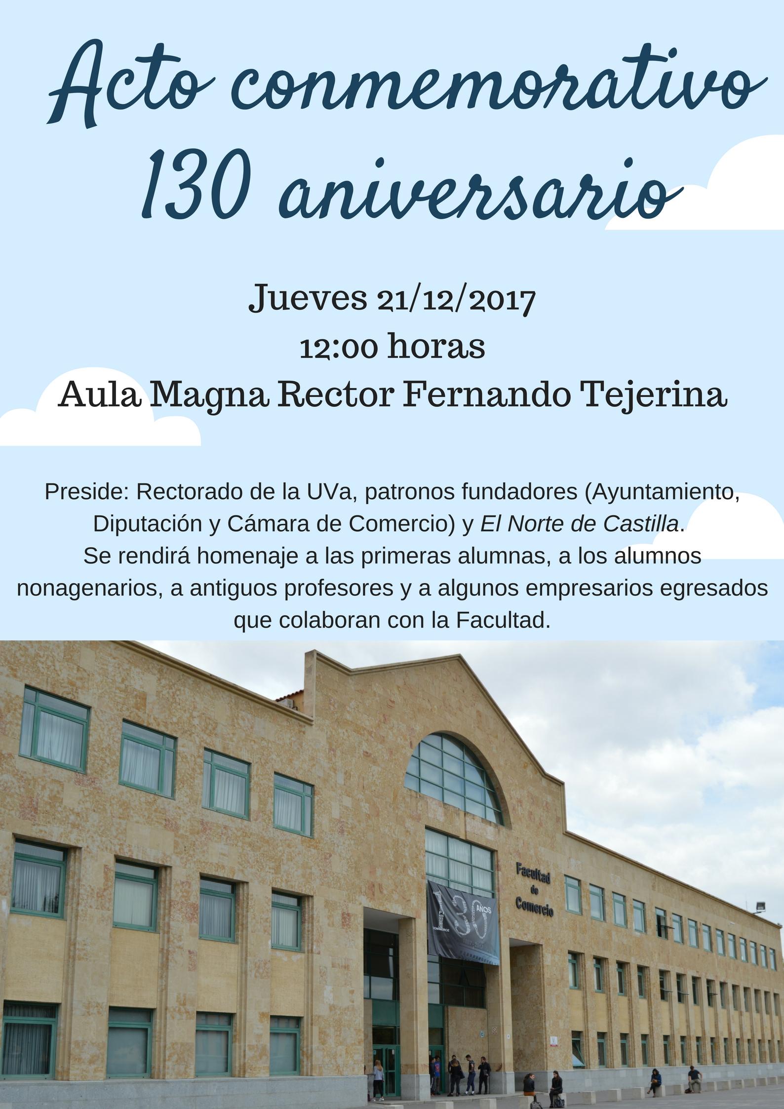 130 aniversario Facultad de Comercio