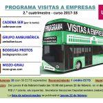 Abierto plazo inscripción visitas a empresas 2º cuatrimestre